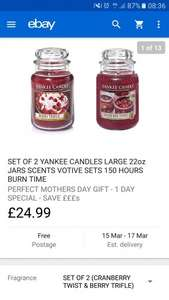Yankee Candle 1 day special offer. Bundles from £13.99 (free delivery) ebay / guaranteed4less