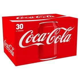 Diet Coke and Coca-Cola Cans 30 x 330 @ Asda online & instore for £7