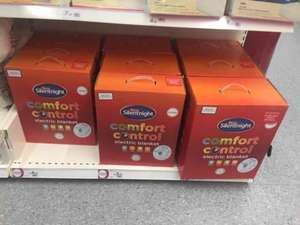 Silentnight Comfort Control Electric Blanket Single £4.50 Double £5.50 king £6.50 Wilko