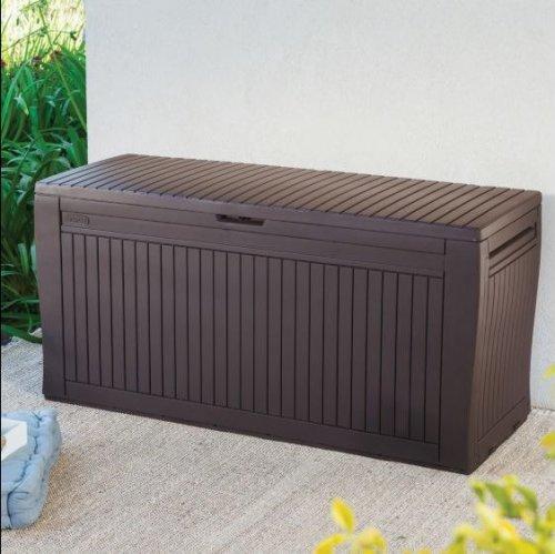 Wood Effect Plastic Patio Storage Box £30 @ B&Q