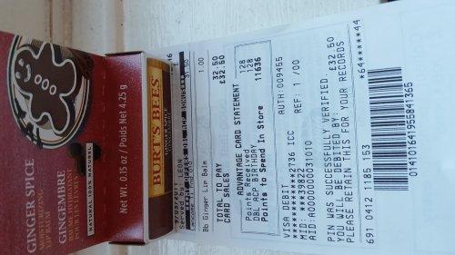 BURTS BEES GINGER SPICE LIP BALM £1 @ Boots - Preston