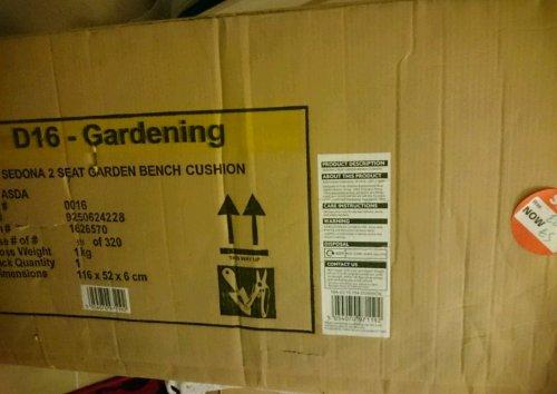 garden bench seat cushion £5 at asda instore