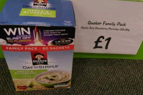 Quaker Oats Apple & Blueberry Porridge 36g x 20 sachets in a box at Asda