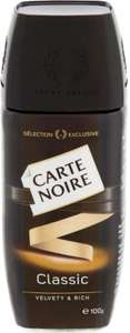 Poundland - 100g jar of classic Carte Noire coffee  - £2.00