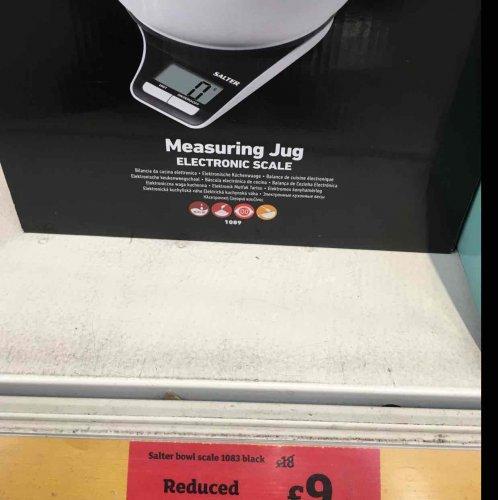 Salter Measuring Bowl Jug Scale £9 instore @ Sainsbury's Leeds Moor Allerton