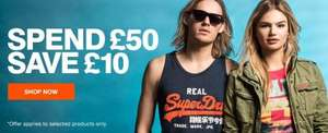 Save £10 when spending £50 @ Superdry Ebay (applied at checkout)