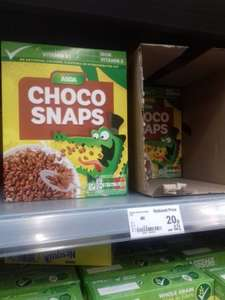 CHOCOLATE SNAPS cereal FOR 20p instore @ Asda Barnes Hill store Birmingham - yesterday