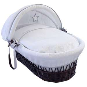 Clair De Lune Silver Lining Moses Basket RRP £90.99 - £42.91 @ Amazon