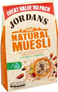 Jordans Natural Muesli (1Kg) was £2.69 now £1.34 @ Tesco