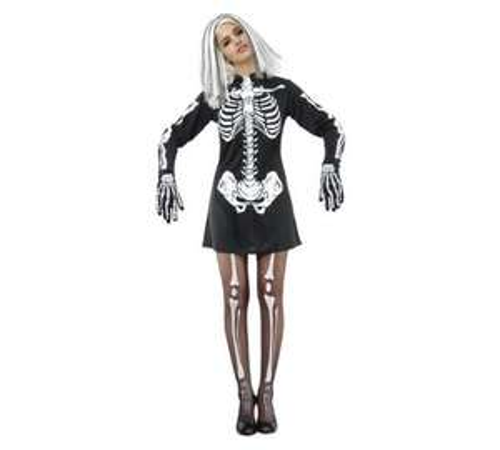 Womens Skeleton Girl Costume Size 12 £2.99 @ Argos (Free C+C)