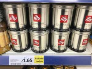 illy dark ground coffee 125g RTC £1.65 @ Tesco instore