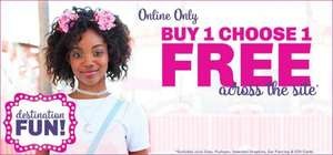 Bogof across all items @ Claire's online including sale