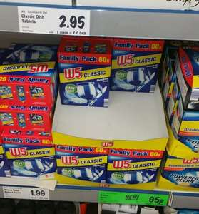 W5 Classic Dishwasher Tablets, New Improved Formula, 60 Family Pack, £2.95 instore @ Lidl