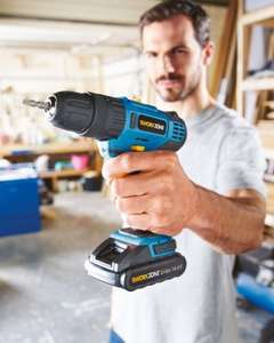 Aldi Work Zone 14.4V Li-Ion cordless hammer drill £24.99 @ Aldi