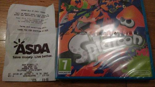 Splatoon Wii U £15 instore - Asda Leigh