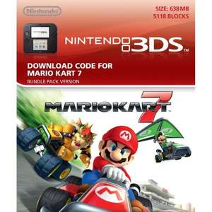 Mario Kart 7 download card (3DS) £5 @ Smyths Toys (instore only)