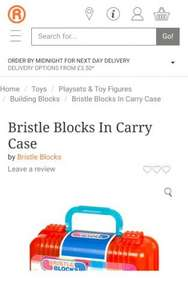 Bristle Blocks In Carry Case at The Range for £6.99
