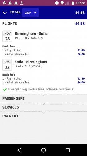 Return Flights Birmingham to Bulgaria £4.98pp @ Wizzair