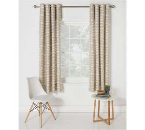 Argos Natural Eyelet Curtains was £19.99 now £4.99