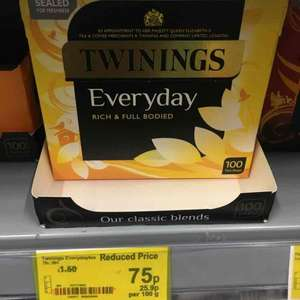 twinings everyday tea 100 bags - 75p instore @ Asda