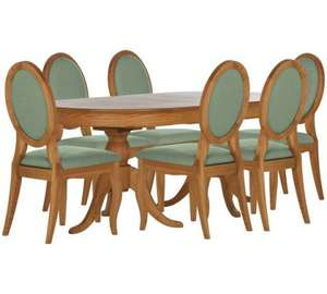 Schreiber Melbury Table & 6 Oak Chairs £351 @ Argos - Duck Egg . Was £1099