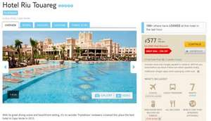 Post Easter All Inclusive 5* Cape Verde Holiday £577pp @ Thomson (based on 2 Adults, from £666 for 1 Adult)