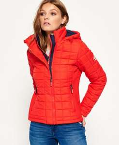 Superdry Hooded Box Quilt Fuji Jacket Bright Red £43.99 after £10 discount at checkout @ Superdry Ebay Store
