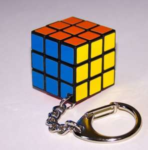 Free Party Bag Sample - mini Rubix cube keyring @ Balloon & Party Shop