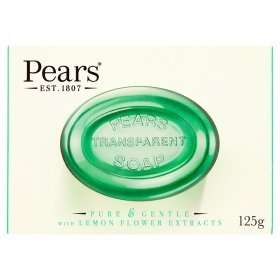 Pears Original and Oil Clear  Soaps 125g 54p @ Asda