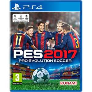 Pro Evolution Soccer 17 PS4 £20 @ Smyths toys