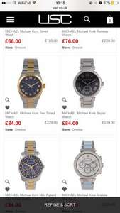 Michael Kors Watches from £66 @ USC