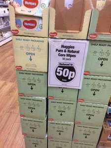 Huggies pure and natural care wipes. 50p @ Poundland