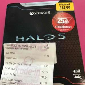 Halo 5 Guardians Limited Edition Xbox One Game Preowned £11.24 @ Game