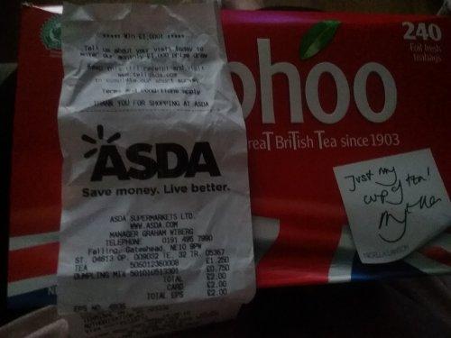240 typhoo teabags £1.25 @ asda