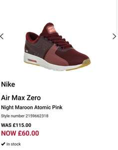 Nike Air Max Zero cheapest online! Rare colour £60 @ Offspring