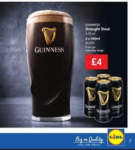 Guinness 4 for £4.00 at Lidl