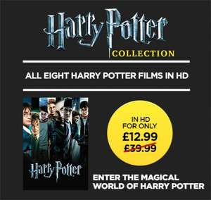 The COMPLETE Harry Potter collection in HD - 8 Films for £12.99 @ Wuaki TV (Buy and keep)