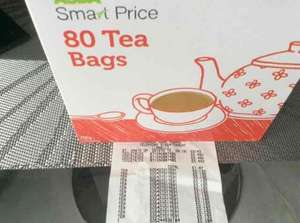 Asda smart price Tea bags 13p instore