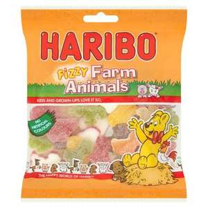 Haribo fizzy farm animal sweets 215g for 50p instore @ Tesco (nationwide deal)
