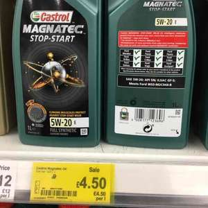 Castrol Magnatec 5w 20 1L fully synthetic - £4.50 instore @ Asda Southgate