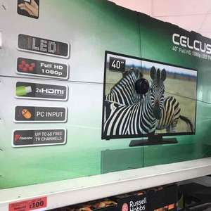 "celcus 40"" inch full hd 1080p LED TV in Sainsbury's - £100"