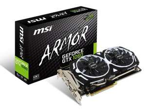 msi gtx 1070 armor oc £335.99 @ Amazon
