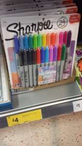 Sharpie Electro pop pens. Morrisons instore East Dereham Norfolk £4