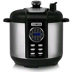 Tower T16008 One Pot Express Electric Pressure Cooker with Smoker, 1000 W, 6 L - Silver £69.99 Dispatched from and sold by Electrical Emporium @ Amazon