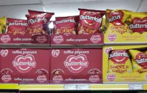 Butterkist Toffee and Sweet & Salted croydon Pound Stretcher - 69p