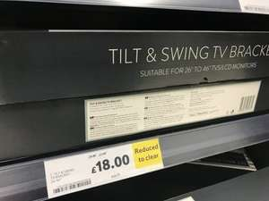 "TV Wall Mounts Reduced At Tesco Extra Dudley- 26""-46"" tilt/swing was £70 now £18"