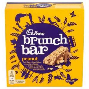 Cadbury brunch bar (6 pack) just 25p rrp £1.99 instore @ Poundstretcher