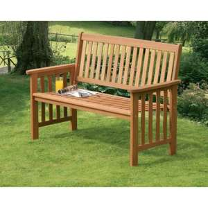 Camillion 2 Seater Wooden Hardwood Garden Bench reduced from £59.99 to £19.99 (£24.98 inc delivery)  Selections