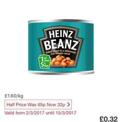 Heinz Baked Beans In Tomato Sauce 200G 32p at Tesco