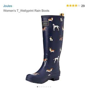 Joules Ladies Welly Boots from £16.78 Prime / £21.53 Non Prime @ Amazon, size 3,4 & 5 (was £39.95)